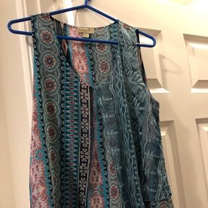 Flowy Tribal Print Tank Top